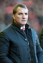 01.12.2012, Anfield, Liverpool, ENG, Premier League, FC Liverpool vs FC Southampton, 15. Runde, im Bild Liverpool's manager Brendan Rodgers before the Premiership match against Southampton at Anfield during the English Premier League 15th round match between Liverpool FC and Southampton FC at Anfield, Liverpool, Great Britain on 2012/12/01. EXPA Pictures © 2012, PhotoCredit: EXPA/ Propagandaphoto/ David Rawcliffe..***** ATTENTION - OUT OF ENG, GBR, UK *****