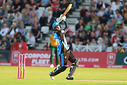 Ed Barnard of Worcestershire Rapids hits over the top during the Vitality T20 Blast North Group match between Nottinghamshire County Cricket Club and Worcestershire County Cricket Club at Trent Bridge, West Bridgford, United Kingdon on 18 July 2019.