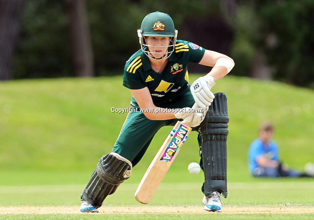 Australian captain Alex Blackwell.<br /> Cricket - Rosebowl Series. Twenty20 International - New Zealand White Ferns v Australia, 20 February 2011, Queens Park, Invercargill, New Zealand.<br /> Photo: Rob Jefferies / www.photosport.co.nz