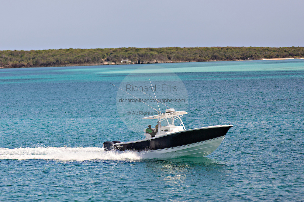 Boaters off Eleuthera Island, The Bahamas.