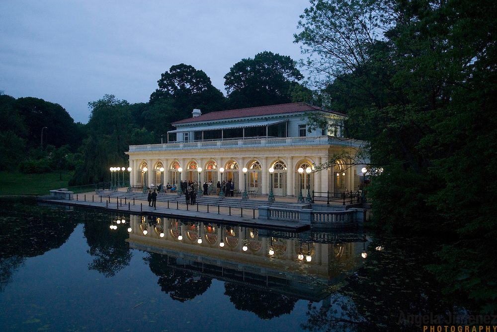 The wedding of Colleen and Elias at the Prospect Park Boathouse in Brooklyn, New York. June, 2008.