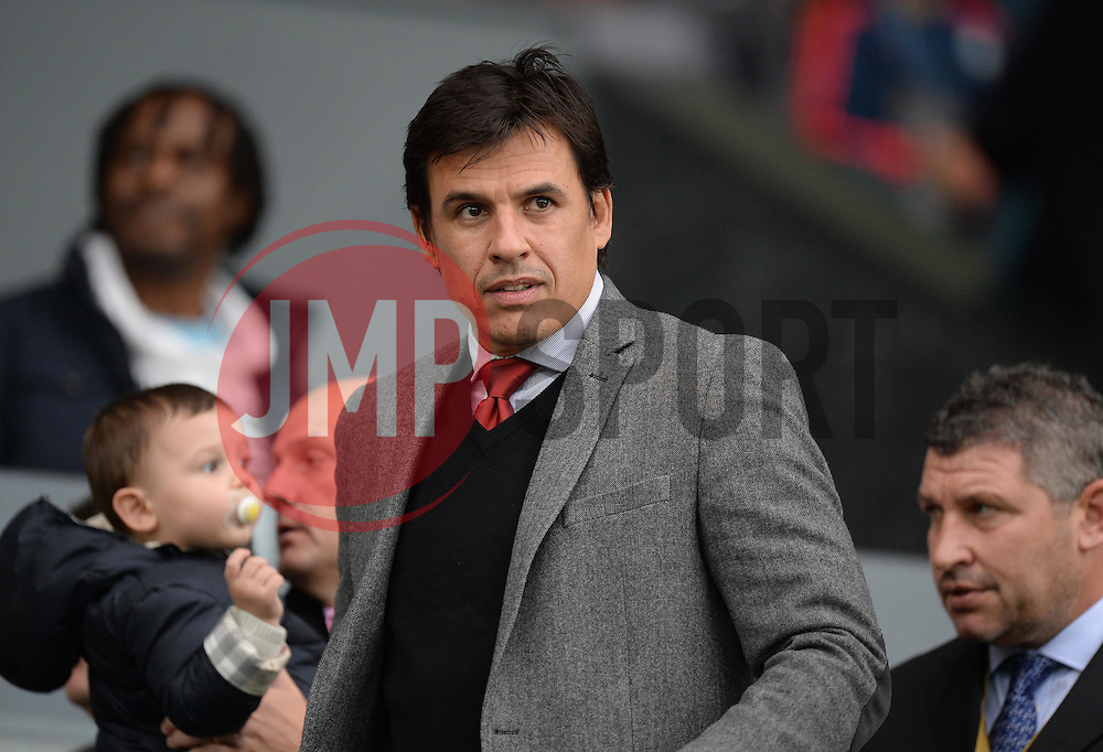 Wales manger Chris Coleman looks on at the liberty Stadium.  - Mandatory byline: Alex James/JMP - 07966 386802 - 04/10/2015 - FOOTBALL - Liberty stadium - Swansea, England - Swansea City  v Tottenham hotspur - Barclays Premier League