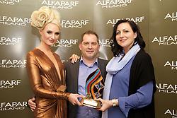 AMF Long Hair<br /> <br /> Simona Vasiliavskaite, Model<br /> Ken O'Connor, Alfaparf Milano Ireland<br /> Daina Petrauskiene, Winner, from Bliss Hair and Beauty, Castlebar