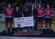 KELOWNA, CANADA - DECEMBER 02:  Save on foods Presentation at the Kelowna Rockets game on December 02, 2017 at Prospera Place in Kelowna, British Columbia, Canada.  (Photo By Cindy Rogers/Nyasa Photography,  *** Local Caption ***