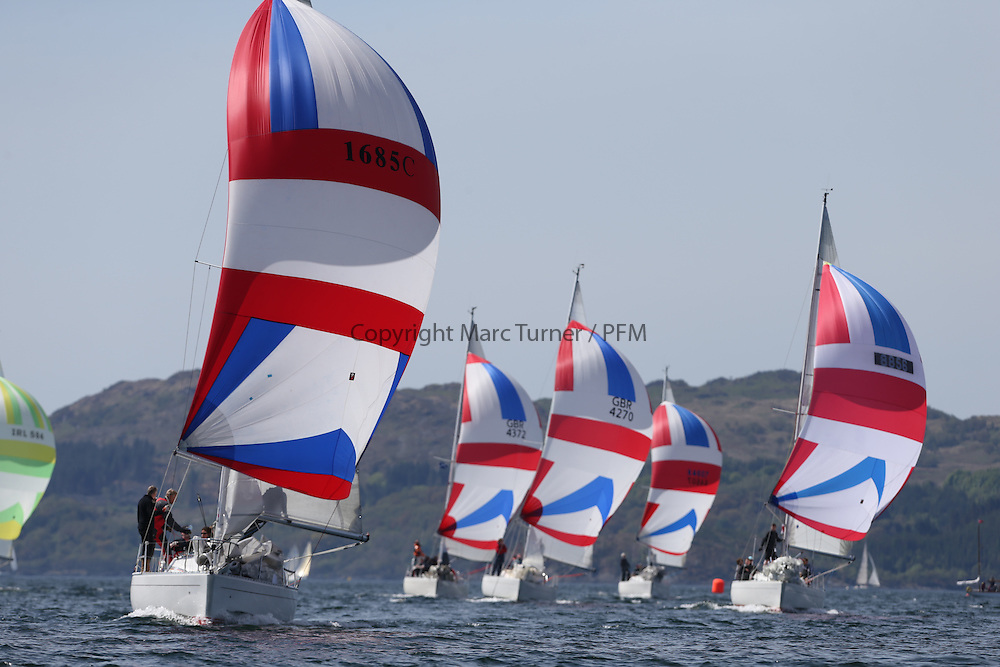 The Clyde Cruising Club's Scottish Series held on Loch Fyne by Tarbert. Day 2 racing in a perfect southerly<br /> <br /> 1685C ,Rajah ,Roy Summers ,CCC/RNCYC