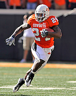 Nov 01, 2008; Stillwater, OK, USA; Oklahoma State Cowboys running back Kendall Hunter (24) rushes up field during the first half against the Iowa State Cyclones at Boone Pickens Stadium.  The Oklahoma State Cowboys won 59-17.
