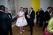 GRAYSON PERRY; ALAIN DE BOTTON, Annual Dinner. Royal Academy of Arts. Piccadilly. London. 8 June 2010. -DO NOT ARCHIVE-© Copyright Photograph by Dafydd Jones. 248 Clapham Rd. London SW9 0PZ. Tel 0207 820 0771. www.dafjones.com.