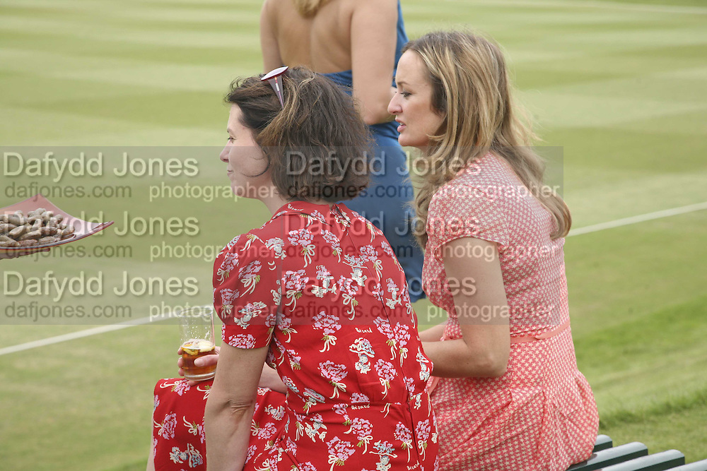 JO HUMAN AND LUCY YEOMANS, Guy Leymarie and Tara Getty host The De Beers Cricket Match. The Lashings Team versus the Old English team. Wormsley. ONE TIME USE ONLY - DO NOT ARCHIVE  © Copyright Photograph by Dafydd Jones 66 Stockwell Park Rd. London SW9 0DA Tel 020 7733 0108 www.dafjones.com