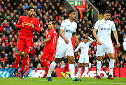 Emre Can of Liverpool reacts after missing a chance - Mandatory by-line: Matt McNulty/JMP - 21/01/2017 - FOOTBALL - Anfield - Liverpool, England - Liverpool v Swansea City - Premier League