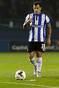 Sheffield Wednesday midfielder Ross Wallace takes a free a kick during the Capital One Cup Fourth Round match between Sheffield Wednesday and Arsenal at Hillsborough, Sheffield, England on 27 October 2015. Photo by Aaron Lupton.