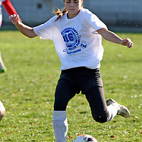 The White Teams Katie Dittiger from Silver Creek during soccer at Strider Field 11-15-15 photo by Mark L. Anderson