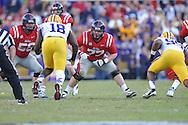 Ole Miss offensive lineman Patrick Junen (77) vs. LSU at Tiger Stadium in Baton Rouge, La. on Saturday, November 17, 2012.....