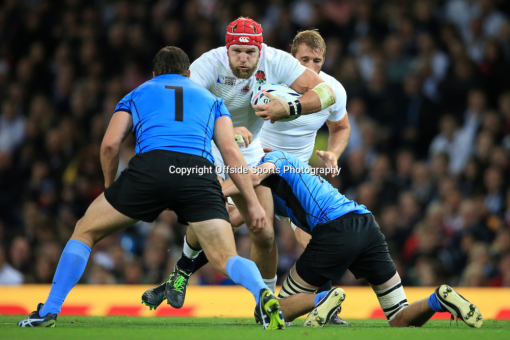 10th October 2015 - Rugby World Cup (Pool A) - England v Uruguay - James Haskell of England - Photo: Simon Stacpoole / Offside.