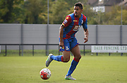 Zeki Fryers looks for options during the Final Third Development League match between U21 Crystal Palace and U21 Coventry City at Selhurst Park, London, England on 12 October 2015. Photo by Michael Hulf.