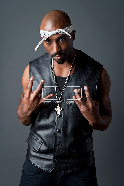24th February 2011. Las Vegas, Nevada.  Celebrity Impersonators from around the globe were in Las Vegas for the 20th Annual Reel Awards Show. Pictured is Josh Harraway as Tupac. Photo © John Chapple / www.johnchapple.com..