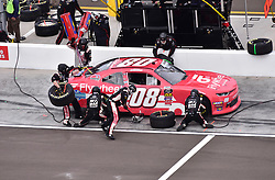 March 9, 2019 - Phoenix, Arizona, U.S. - PHOENIX, AZ - MARCH 09:  Gray Gaulding (08) GGPure.com/Flywheel Chevrolet pits for tires and fuel at the NASCAR Xfinity iK9 Service Dog 200 race on March 09, 2019 at ISM Raceway in Phoenix, AZ.  (Photo by Lyle Setter/Icon Sportswire) (Credit Image: © Lyle Setter/Icon SMI via ZUMA Press)