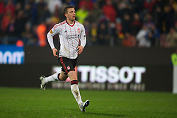 BUCHAREST, ROMANIA - Thursday, December 2, 2010: Liverpool's Danny Wilson in action against FC Steaua Bucuresti during the UEFA Europa League Group K match at the Stadionul Steaua. (Pic by: David Rawcliffe/Propaganda)