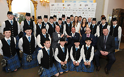 Clew Bay Pipe Band Award Winners  at the Westport Lions club Clew Bay People of the Year Awards.<br /> Pic Conor McKeown