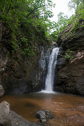 Waterfall at the end of a horseback ride and hike, Rancho Capomo, Las Palmas, Puerto Vallarta, Jalisco, Mexico