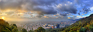 Panorama of Bogota, Columbia.  Image created 2010. <br />