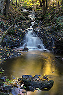 This small waterfall is unnamed officially, and is on a creek that is also unnamed.  Camp Fortune is nearby so I decided to call it Fortune Falls.  Photographed near the Dunlop Picnic Area during Fall Rhapsody in Gatineau Park, Québec, Canada.