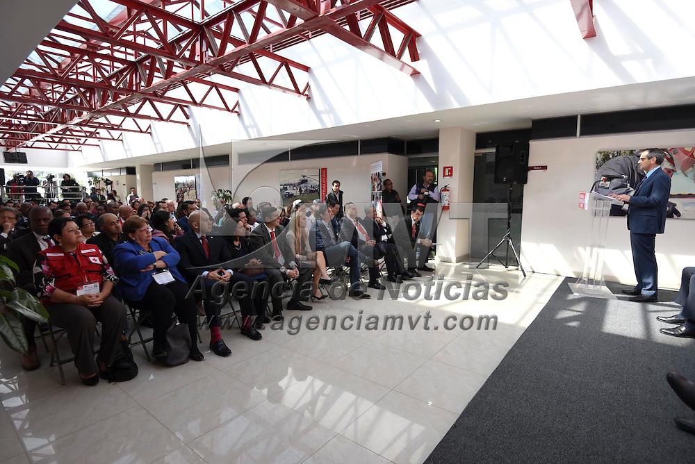Toluca, México (Noviembre 07, 2016).- Franz Rauchenstein, Jefe de la División Movimiento del CIRC durante la Primera Reunión Regional Sobre Migración, teniendo como sede el CENCAD.  Agencia MVT / Crisanta Espinosa