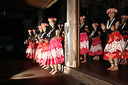 Jan. 21, 2009; Obama, Fukui Prefecture, Japan - The Obama Girls and the Obama Boys perform a hula dance during the President Barack Obama Inauguration Celebration at the Haga Temple.