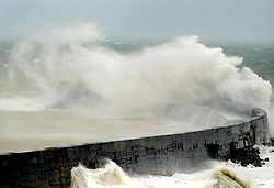 © Licensed to London News Pictures. 12/03/2019. Newhaven, UK.  Huge waves batter Newhaven harbour's lighthouse in East Sussex as Storm Gareth brings strong winds to the UK.  Photo credit: Peter Cripps/LNP