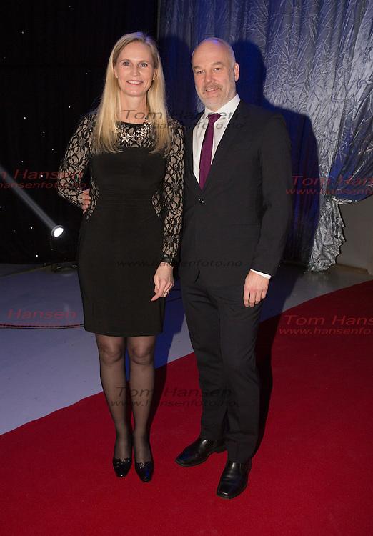 LILLEHAMMER, 20160109: Idrettsgallaen 2016 i Håkons hall i Lillehammer. Thor Gjermund Eriksen og kjæresten Ann Kristin Enkrog. FOTO: TOM HANSEN