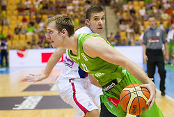 Zoran Dragic of Slovenia during friendly match between National teams of Slovenia and Serbia for Eurobasket 2013 on August 3, 2013 in Arena Zlatorog, Celje, Slovenia. (Photo by Vid Ponikvar / Sportida.com)