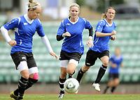 Fotball<br /> Norge<br /> 04.05.2011<br /> Foto: Morten Olsen, Digitalsport<br /> <br /> Trening Norge A kvinner<br /> Nadderud Stadion<br /> Internkamp - Norge Blå mot Norge Hvit<br /> <br /> L-R: Leni Larsen Kaurin - Cecilie Pedersen - Gry Tofte Ims