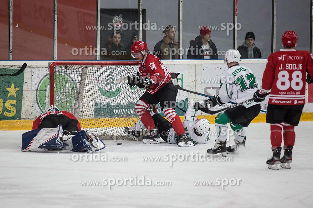 First goal of HK SZ Olimpija during Alps League Ice Hockey match between HDD SIJ Jesenice and HK SZ Olimpija on December 20, 2019 in Ice Arena Podmezakla, Jesenice, Slovenia. Photo by Peter Podobnik / Sportida