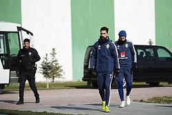 November 16, 2018 - Konya, TURKEY - 181116 Jimmy Durmaz and Oscar Hiljemark of Sweden during a training session on November 16, 2018 in Konya..Photo: Joel Marklund / BILDBYRN / kod JM / 87805 (Credit Image: © Joel Marklund/Bildbyran via ZUMA Press)