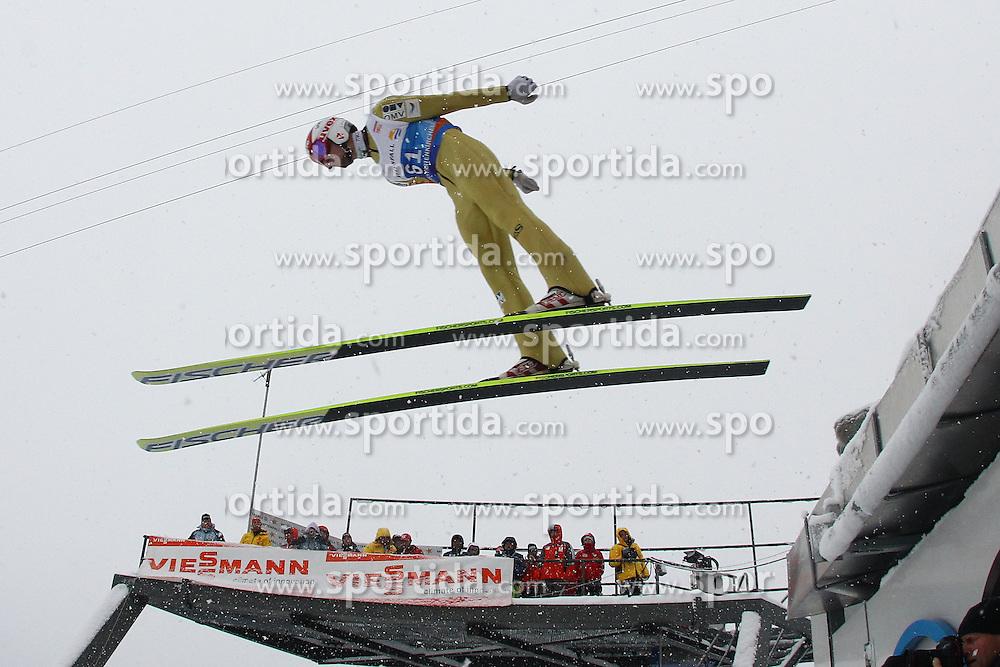 31.12.2011, Olympia Skisprungschanze, Garmisch Partenkirchen, GER, 60. Vierschanzentournee, FIS Ski Sprung Weltcup, Training, im Bild Robert KRANJEC (SLO) // Robert KRANJEC (SLO) during a practice session of 60th Four-Hills-Tournament FIS World Cup Ski Jumping at Olympia Skisprungschanze, Garmisch Partenkirchen, Germany on 2011/12/31. EXPA Pictures © 2011, PhotoCredit: EXPA/ Sven Kiesewetter