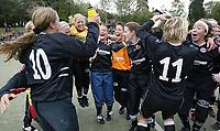 Fotball NM semifinale kvinner. Røa - Arna Bjørnar 1-3. Arna Bjørnar-jubler for finaleplass.<br /> <br /> Foto: Andreas Fadum, Digitalsport