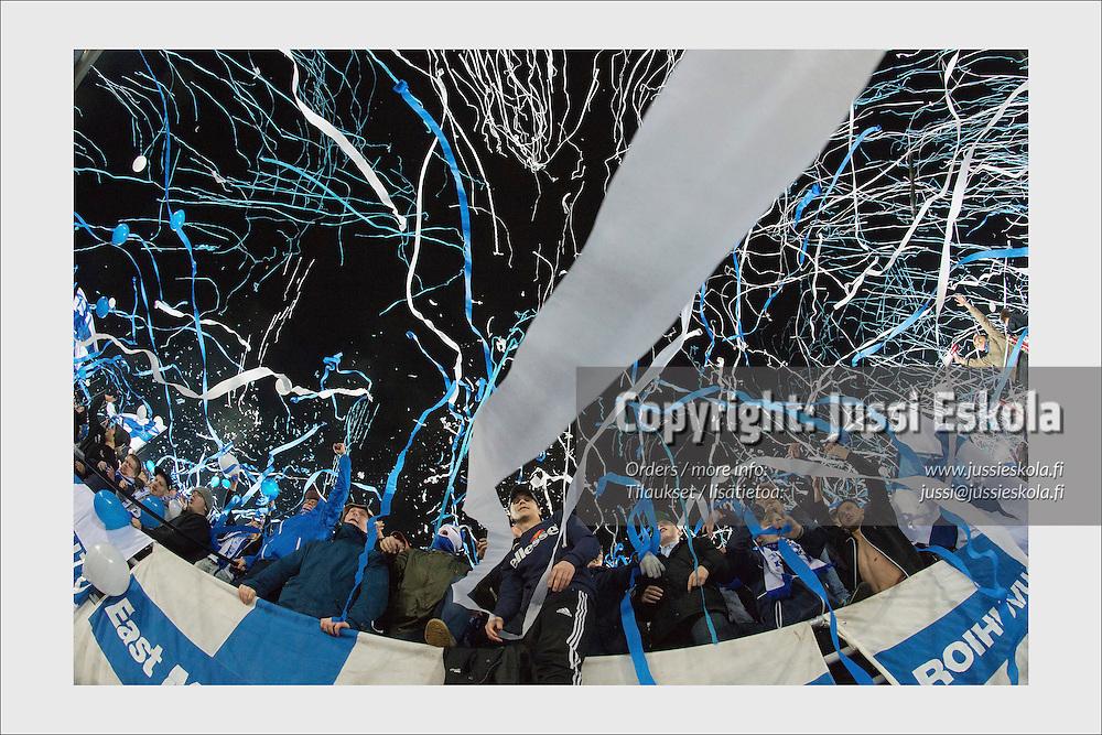 Finland - Romania. Olympic Stadium, Helsinki, October 14, 2014.