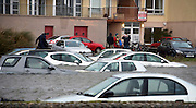 26/01/2016  Cars  destroyed in Toft car park  in the flooding in Salthill as  storm Jonas hits the West coast. Photo:Andrew Downes, XPOSURE .
