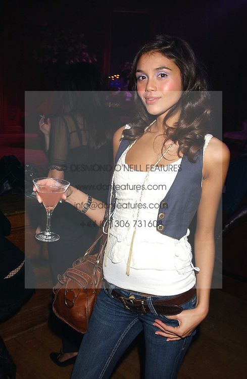 Model JAMIE GUNNS at the Myla Debutantes Coming-Out show held at The Porchester Hall, Porchester Road, London on 31st January 2006.<br />