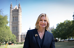© Licensed to London News Pictures. 16/07/2018. London, UK. Justine Greening MP poses for photographers near Parliament after giving TV interviews. Ms Greening has said in an interview with The Times that a second referendum on leaving the EU should be held. Photo credit: Peter Macdiarmid/LNP