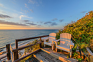 Two Chairs, by Beach, Long Island Sound, Cutchogue,, New York
