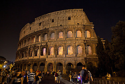 Coliseum on Fire -  video installation by Thyra Hilden and Pio Diaz a cura di Gianni Mercurio e Christina Clausen - Coliseum Rome