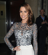 Cheryl Fernandez-Versini displays her super-slim figure in daring dress with racy split skirt as she supports boss Simon Cowell at music prizegiving<br /> ©Exclusivepix Media