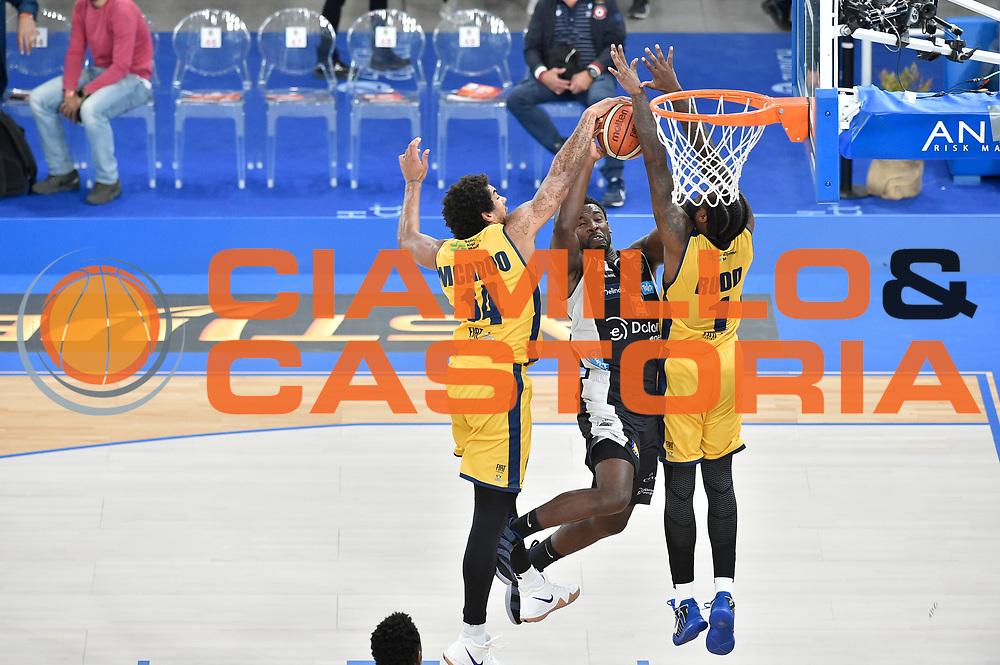 Hogue Dustin<br /> FIAT Torino - Dolomiti Energia Trento<br /> Zurich Connect Supercoppa 2018-2019<br /> Lega Basket Serie A<br /> Brescia 29/09/2018<br /> Foto M.Matta/Ciamillo & Castoria