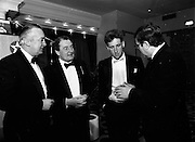 8/01/1989<br /> 01/18/1989<br /> 18 January 1989<br /> Texaco Sportstars of the Year Awards 1988 at the Burlington Hotel, Dublin. Picture shows (l-r):  Mr. Vincent O'Brien, Managing Director Texaco; Paddy Hopkirk (Antrim, Hall of Fame  winner -Motor Sport);  Sean Kelly (Tipperary, Cycling) and Mr. Ray Burke T.D., Minister for Industry and Commerce.
