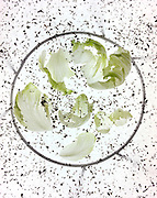 lettuce leaves photographic abstraction