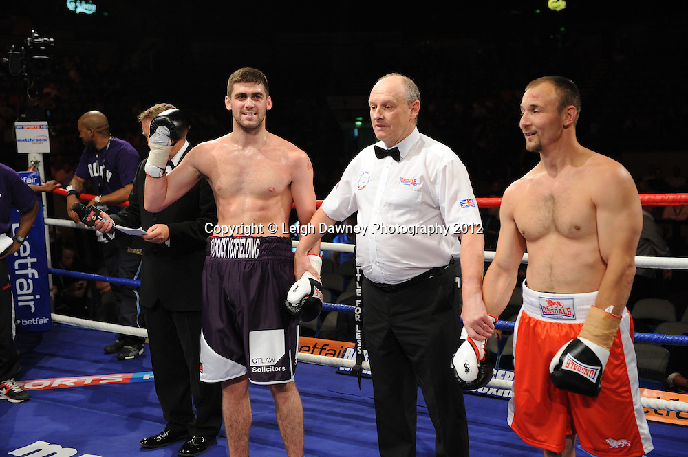 Rocky Fielding defeats Ferenc Hafner in a Super Middleweight contest at the Motorpoint Arena, Sheffield, United Kingdom on the 7th July 2012. Promoted by Matchroom Sport. ©Leigh Dawney Photography 2012.