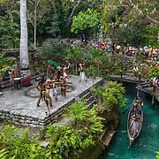 Mayan ceremony. Xcaret. Riviera Maya. Mexico.