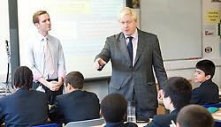 Boris Johnson <br /> Mayor of London <br /> visiting Pimlico Academy, Pimlico, London, Great Britain <br /> 19th October 2012 <br /> <br /> Boris Johnson <br />  <br /> <br /> Photograph by Elliott Franks