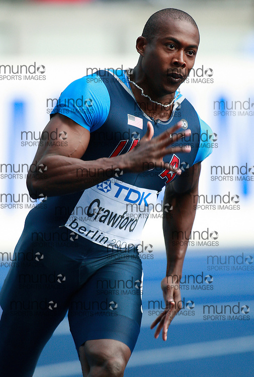 Berlin World Championships 2009 -August 18 - Day 4 -Morning *** Local Caption *** Shawn Crawford - 200m USA
