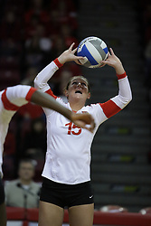 19 November 2010: Kristin Stauter during an NCAA volleyball match between the Sycamores of Indiana State and the Illinois State Redbirds at Redbird Arena in Normal Illinois.